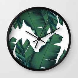 Banana Leaves Tropical Vibes #5 #foliage #decor #art #society6 Wall Clock