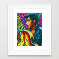 elvis presley Framed Art Prints featuring Elvis Presley by Kevin Rogerson