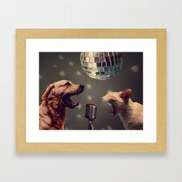 Household pet competition Framed Art Print