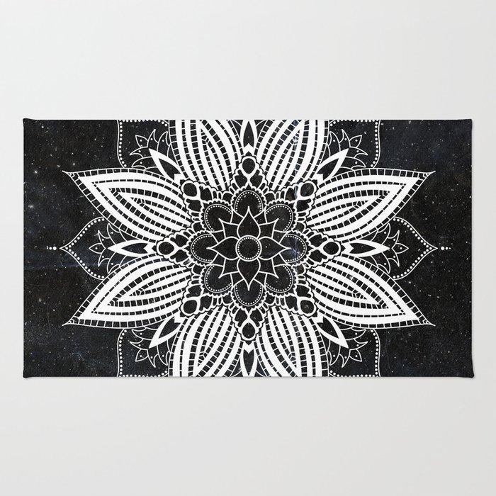 Flower Mandala in the Stars Rug