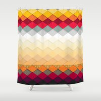 fireworks Shower Curtains featuring Fireworks by Kakel
