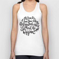 font Tank Tops featuring grand adventure by Matthew Taylor Wilson