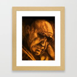on wood Framed Art Print