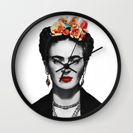 Mexican Beauty Portrait Artwork for Women Men and Kids Wall Clock
