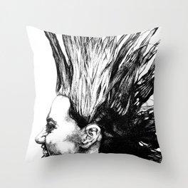 Laura Hawk Throw Pillow