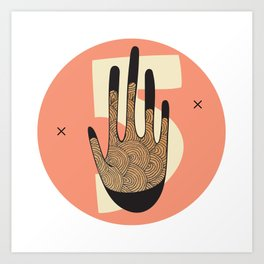 High Five in Warms Art Print