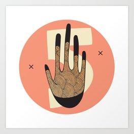 High Five in Warms Art Print