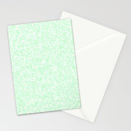 Tiny Spots - White and Mint Green Stationery Cards