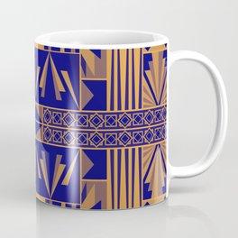 Art Deco Abstract Pattern Royal Blue Coffee Mug