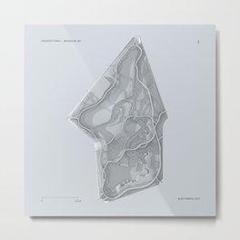 Brooklyn Prospect Park Map (Silver/Gray) Metal Print