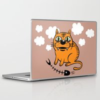 fat Laptop & iPad Skins featuring FAT CAT by Alberto Corradi