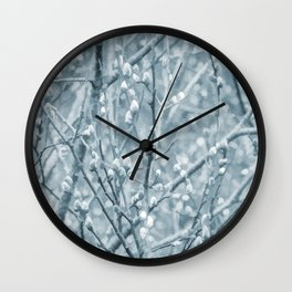 Springtime Pussy Willows Wall Clock