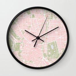 Madrid map vintage Wall Clock