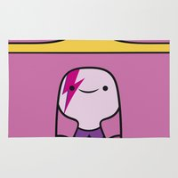 princess bubblegum Area & Throw Rugs featuring Princess Bubblegum  by lapinette