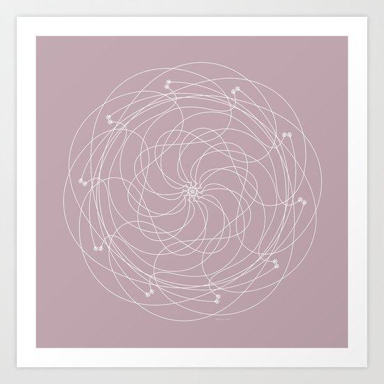 Ornament – Merry Go Round Flower Art Print