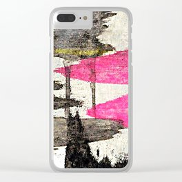 Pink Lake Abstract Clear iPhone Case