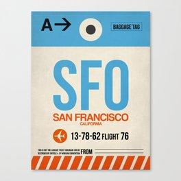 SFO San Francisco Luggage Tag 1 Canvas Print