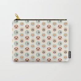 Circle Pup Pattern Carry-All Pouch
