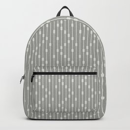Modern Abstract Chevron Beaded Curtain Neutral Olive Gray Backpack