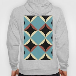 Frontal Fishes with squared blue mouths in a black deep sea. Hoody