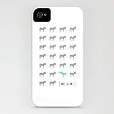 Be You - Zebra Print iPhone (4, 4s) Slim Case