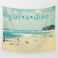 paradise Wall Tapestries featuring paradise by Sylvia Cook Photography