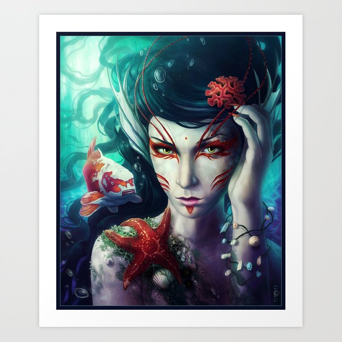 """The Deep is mine"" Art Print"