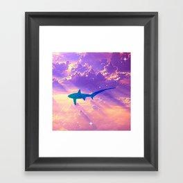 Air Shark Framed Art Print