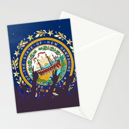 New Hampshire State Flag with Audience Stationery Cards
