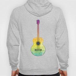 Polygonal guitar silhouette Hoody