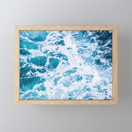 Perfect Ocean Sea Waves Framed Mini Art Print