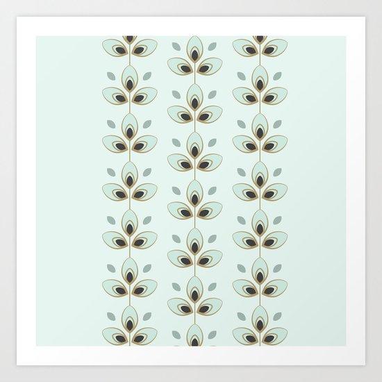 Mint Blossoms Art Print