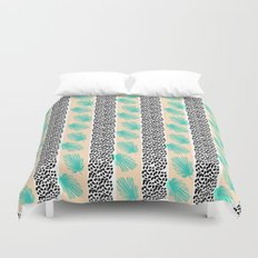 Palm Leaf Abstract Duvet Cover