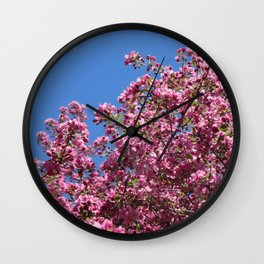 Spring blossoms pink Wall Clock