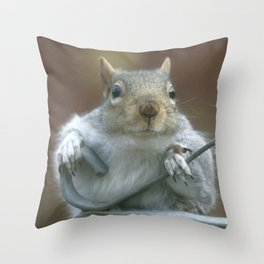 Hanging by a moment (starving for truth) Throw Pillow