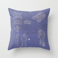 Transformer Blueprints Throw Pillow