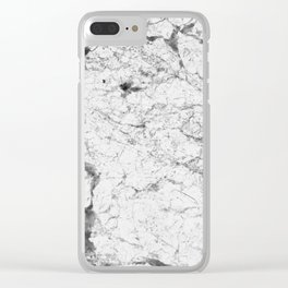 Dramatic white stone - marble Clear iPhone Case