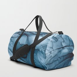 Churning Blue Ocean Waves Abstract Painting Duffle Bag