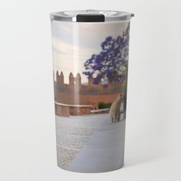 Cats kissing in a castle Travel Mug