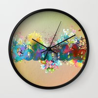colombia Wall Clocks featuring Colombia by LinaG