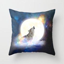 Wolf Power Animal  Throw Pillow