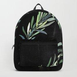 Eucalyptus leaves on chalkboard Backpack