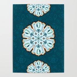 Trad Climbing Mandala Poster