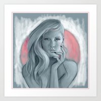 ellie goulding Art Prints featuring Ellie Goulding  by Mathew