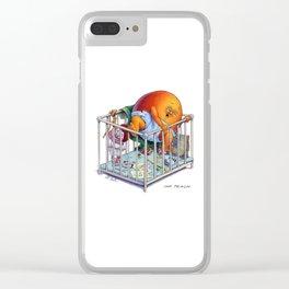 Imp Peach Clear iPhone Case