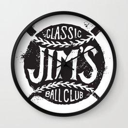 Classic Jim's Ball Club - Tshirt Wall Clock