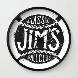 Classic Jim's Ball Club - Tshirt Wall Clock