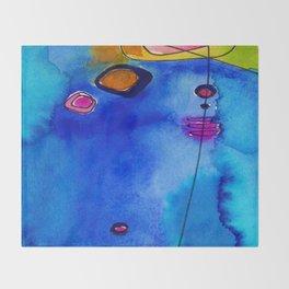 Magical Thinking No. 2C by Kathy Morton Stanion Throw Blanket