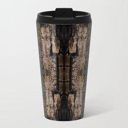 Mossy wood bark pattern Travel Mug