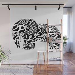 Mr elephant ecopop Wall Mural